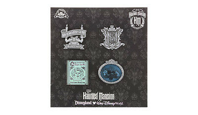 Disney Pins  Haunted Mansion Booster Set Of 4