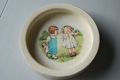 BUFFALO POTTERY Baby Childs Dish Dolly Dingle Campbell Kids Cereal Soup Bowl