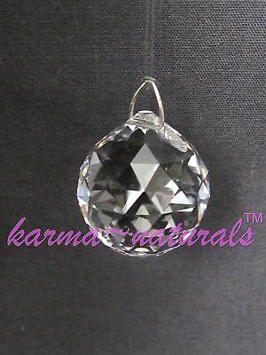 FACETED Clear CRYSTAL Prism 20 mm Small Sphere SWAROVSKI Feng Shui Healing Reiki