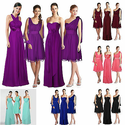 Convertible Multi Wear Bridesmaid Formal Wedding Party Dress 6-8-10-12-14-16-18