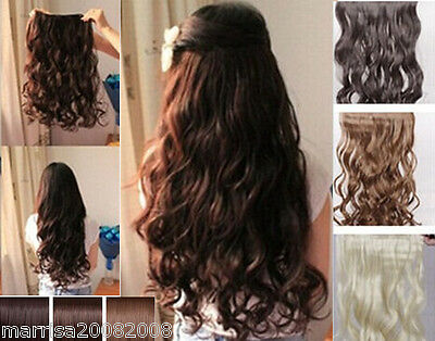 On Sale Curly Clip in Hair Piece Extensions / Curly /Staight Ponytail Hair Piece