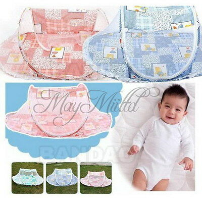 Baby Bed Mosquito Net Instant Tent Crib Multi-Function Playpen Pop up Foldable Y