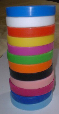 Plain Silicone Wristband, No Text, Adult Size - Choose Colour