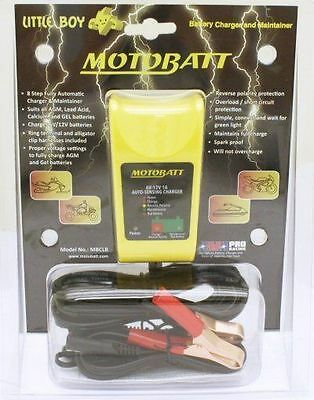 Motobatt Little Boy battery charger 6V / 12V 1A for AGM gel & acid batteries