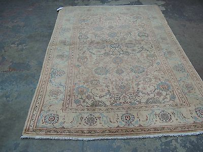 Vintage Fine Persian Hand Knotted Wool Kashan Oriental Area Rug 4'-7 x 7'