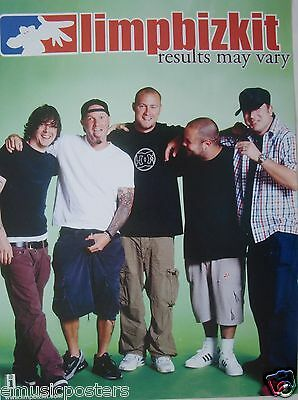 "LIMP BIZKIT ""RESULTS MAY VARY"" THAILAND PROMO POSTER - Nu / Rap Metal Music"