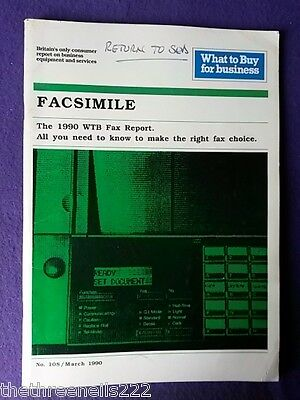 What To Buy For Business #108 - Facsimile - March 1990