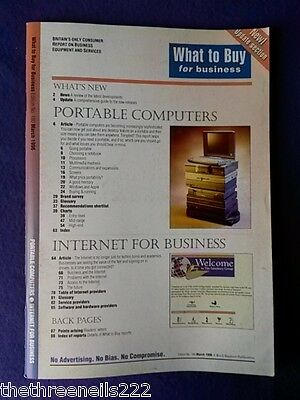 What To Buy For Business #180 - Portable Computers -  March 1996