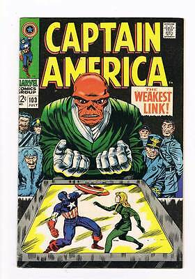 Captain America # 103  Red Skull high grade 8.5 movie super scarce hot book !!