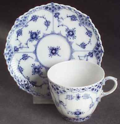 Royal Copenhagen BLUE FLUTED FULL LACE Cup & Saucer 6109626