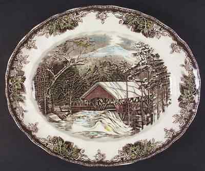 """Johnson Brothers THE FRIENDLY VILLAGE 15 1/4"""" Oval Serving Platter 4654147"""