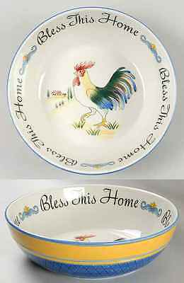 Fitz & Floyd RICAMO ACCESSORIES Bless This Home Salad Serving Bowl 8935040