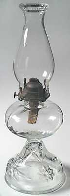 Anchor Hocking PRESCUT CLEAR Hurricane Oil Lamp 3384504