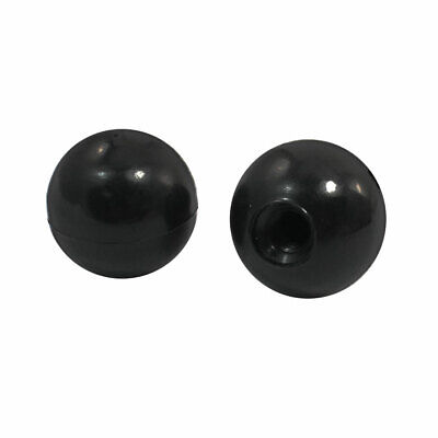 M8 Thread 30mm Dia Black Round Plastic Ball Knob Handle Pair