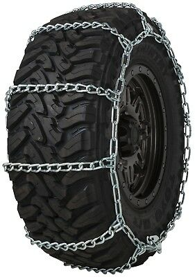 Quality Chain 3235 Wide Base Non-Cam 7mm Link Tire Chains Snow SUV 4x4 Truck