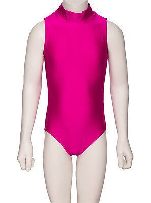 Girls Childrens Dance Gymnastics Shiny Lycra Sleeveless Leotard KDGN016 By Katz