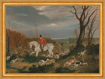 The Suffolk Hunt: Going to Cover near Herringswell Pferd Jagd Herring B A3 00125
