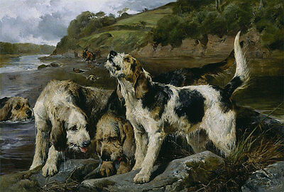 Otter Hunting On the Scent John Sargent Noble Hunde Otter Jagd B A3 00144