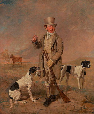 Portrait of a Sportsman, Possibly Richard Prince Hunde Marshall Jagd B A3 00145