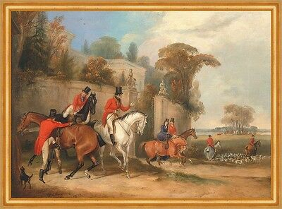 Bachelors Hall: The Meet Pferde Jäger Jagd Hunde England Turner B A2 00089