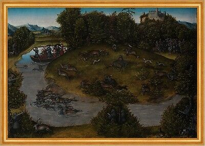 Stag Hunt of the Elector Frederic the Wise 1463-1525 of Saxony Jagd B A2 00118