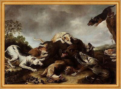 The boar hunt Frans Snyders Eber Wildschwein Hunde Jagd Beute Tiere B A2 00121