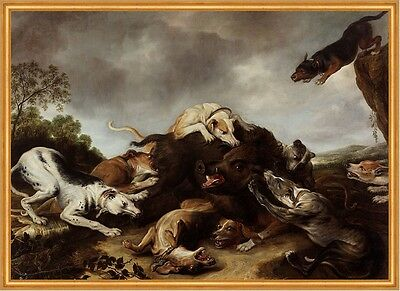 The boar hunt Frans Snyders Eber Wildschwein Hunde Jagd Beute Tiere B A1 00121