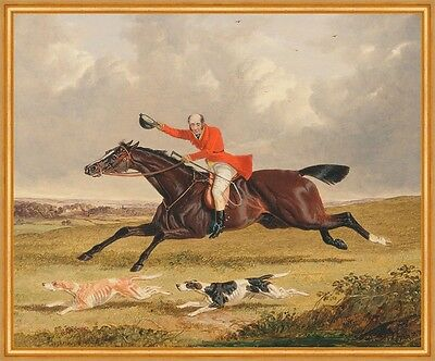 Foxhunting: Encouraging Hounds John Frederick Herring Reiter Jagd B A1 00160