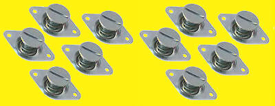 Quick Flush Head Self-Ejecting Button Buttons 7/16 .500in 10 pk Steel Dzus