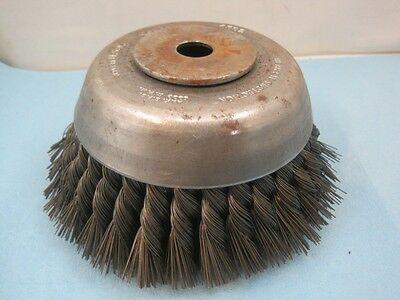 "6244 Osborn Knotted Wire Cup Brush 6"" Diameter 33028 NEW"