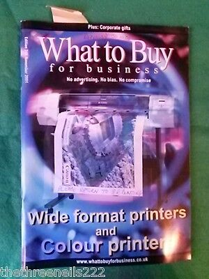 What To Buy For Business #248 - Wide Format Printers - Nov 2001