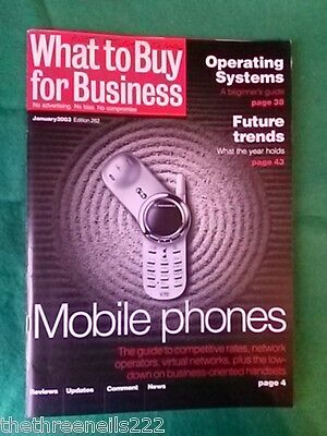 What To Buy For Business #262 - Mobile Phones - Jan 2003