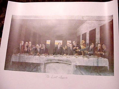 RICHARD NIXON WATERGATE 1970'S POSTER art republican The Last supper President