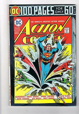 Action Comics # 437  100 page giant  issue grade 6.5 super scarce hot book !!