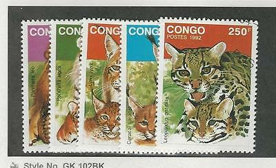 Congo, Postage Stamp, #978-982 Used, 1992