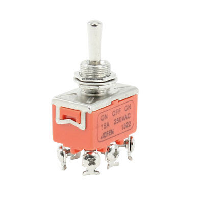 DPDT ON/OFF/ON 3 Positions 6 Screw Terminals Toggle Switch AC 250V 15A