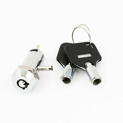 Electric 2 Positions 1NO+1NC Key Lock Switch AC 250V 1A Silver Tone