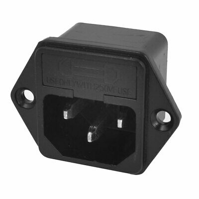 IEC 320 C14 Inlet Electric Rice Cooker Socket AC 250V 10A w Fuse Holder