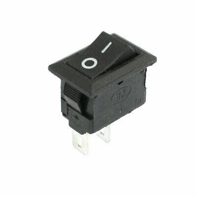 Home AC 250V 3A Snap in SPST On/Off Boat Rocker Switch Black