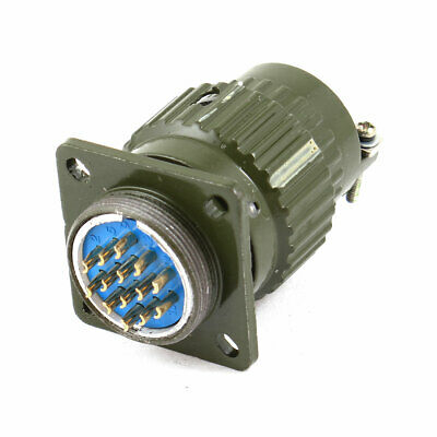 AC 250V 12A 14 Pin Waterproof Aviation Pannel Connector Adapter