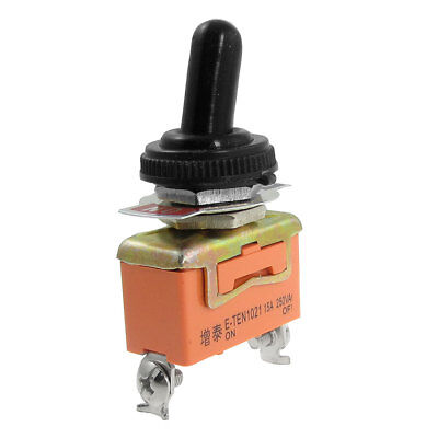 AC 250V 15A ON/OFF SPST 2 Way 2 Screw Terminals Toggle Switch + Waterproof Boot