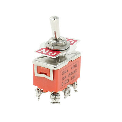 DPDT ON/ON 2 Positions 6 Screw Terminals Toggle Switch AC 250V 15A