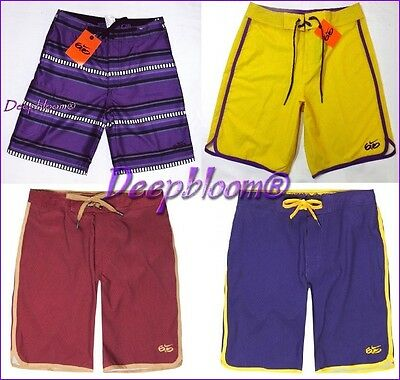 c6435a5229a33 Nike Swim 6.0 Suit Board Shorts Trunk Mens Gym 29 30 Yellow Purple Burgundy  New
