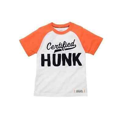 Carter's Top Shirt Boys Certified Hunk 3T 4T 5T Orange New