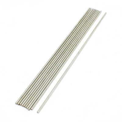 RC Airplane 200x2mm Silver Tone Stainless Steel Round Bar Rod 10Pcs