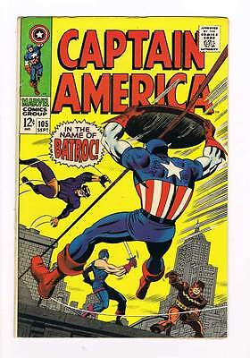 Captain America # 105 Batroc the Leaper grade 7.0 movie super scarce hot book !!