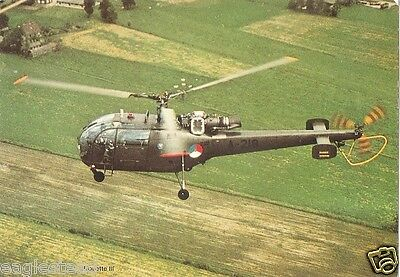 Helicopter Postcard - Alouette III - Point Left (P2500)