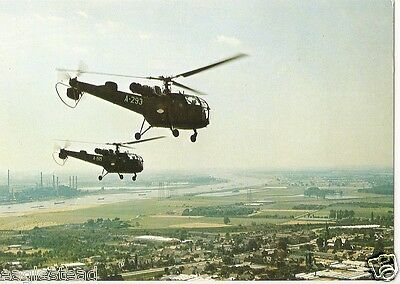 Helicopter Postcard - Alouette III - Formation of 2 (P2503)