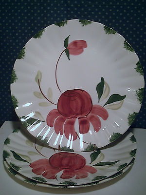 "3 Blue Ridge Southern Potteries Colonial Allegro 10 3/8"" Dinner Plates"
