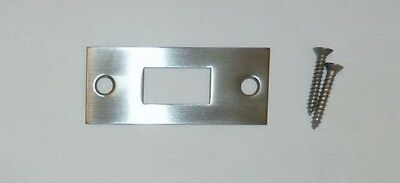 "Decorlux 2.75"" MBS-150 Mortise Bolt Door Strike Plate + Screws SATIN NICKEL NEW!"